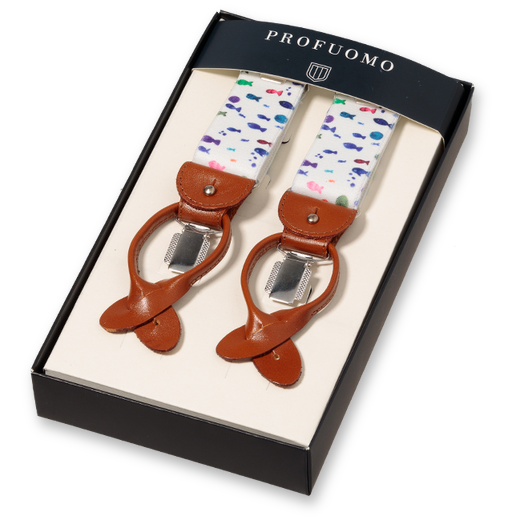 Profuomo Bretels Fishes Multi (1)