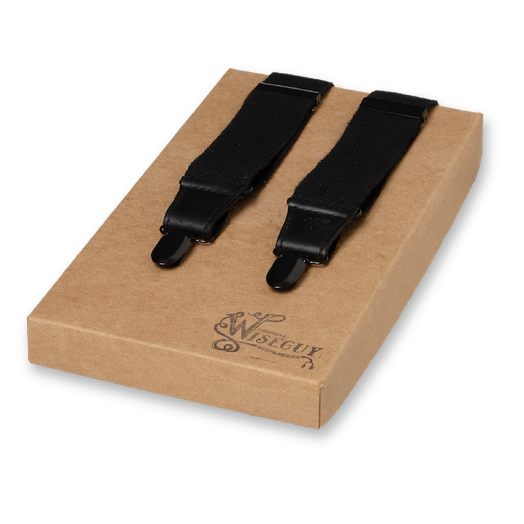 Wiseguy Suspenders - Charger Heavy all Black (1)